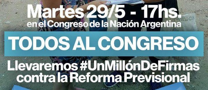 1.000.000 de firmas contra la Reforma Previsional