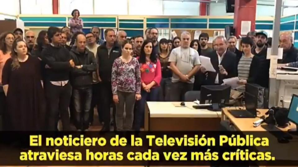 Trabajadores de la TV Pública rechazaron la cobertura del canal