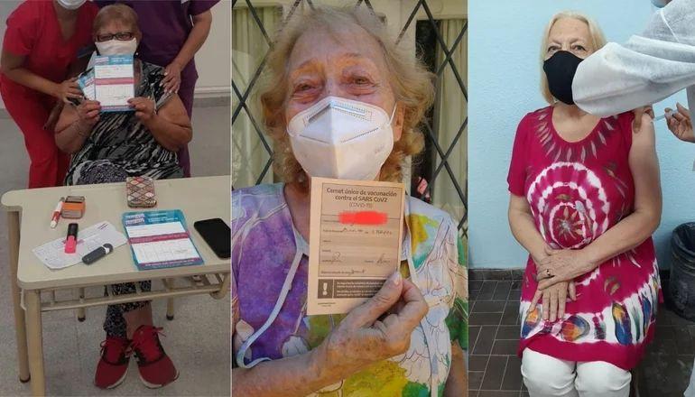 """""""¡Mamá está vacunada!"""": la emoción de miles de bonaerenses por el acceso a la vacuna"""