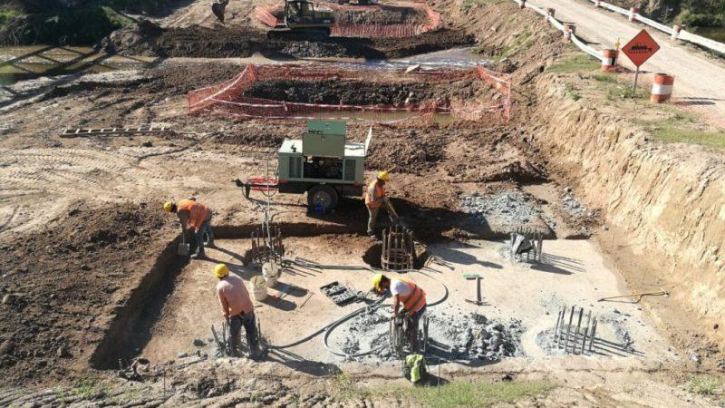 Río Luján: avanza la construcción del nuevo puente de Olivera