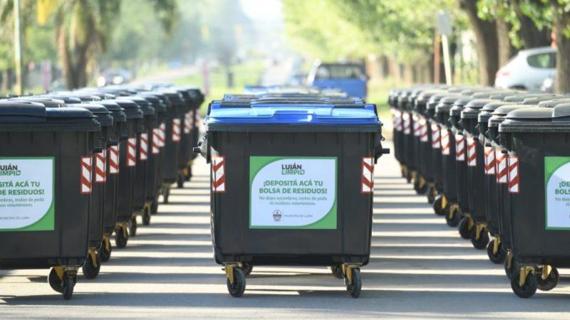 Luján Limpio: ya se instalaron más de 300 contenedores en 10 barrios de Luján