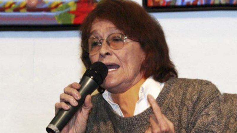 Murió la intelectual y exdiputada de izquierda Alcira Argumedo