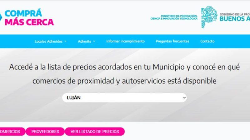 Comprá Más Cerca: listado de productos y comercios adheridos de Luján