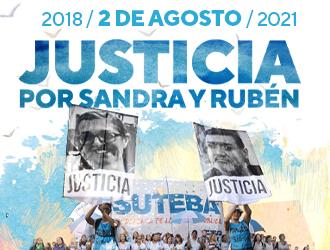 A 3 años Lxs Maestrxs no olvidamos. ¡Justicia por Sandra y Rubén!