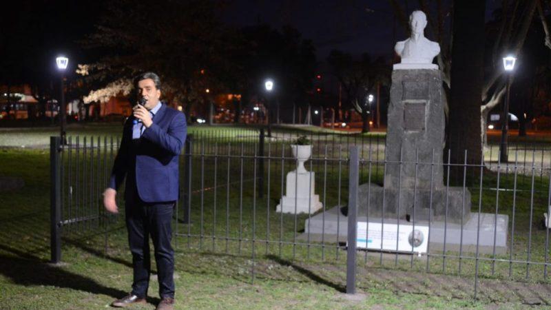 El Intendente inauguró los trabajos de puesta en valor de la Plaza Irlanda